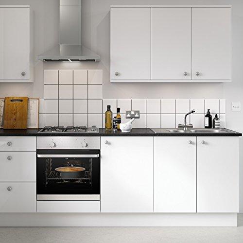 KINLO weiß glanz Möbelfolie 5x0.61M PVC Klebefolie Küchenschrank Aufkleber Selbstklebend Küchenfolie Deko Plotterfolie