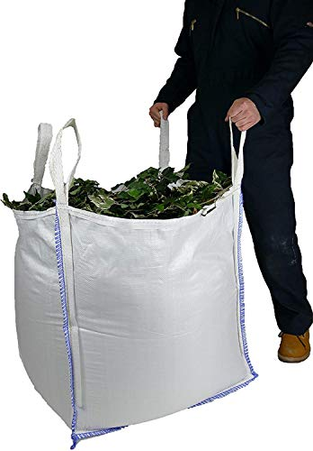 Sackmaker Jardín Residuos Bolso - 340 Litros - Bolsa a Granel de Media Tonelada - Grado Premium - Bolsa de Basura Grande para Jardín Resistente - Constructores Bolsa a Granel de 500 Kg (3 Paquete)