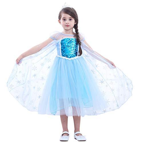 PROTAURI 3-8 jaar meisjes tutu jurken vakantie prinses bruiloftsfeest jurk