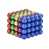 Neodym-Super-Magnete Würfel 5mm [100 Stücke] Sehr starke Magnete für Glas-Magnetboards, Magnettafel, Whiteboard, Tafel, Pinnwand, Kühlschrank, und vieles mehr [Regenbogen]