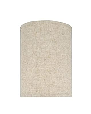 "Aspen Creative 31031 Transitional Hardback Drum (Cylinder) Shape Spider Construction Lamp Shade in Beige, 8"" wide (8"" x 8"" x 11""),BEIGE LINEN"