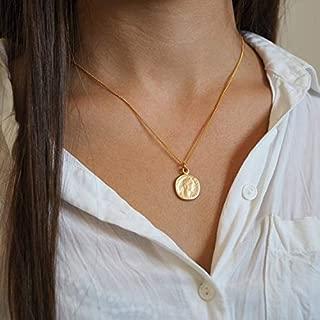 roman coin pendant gold