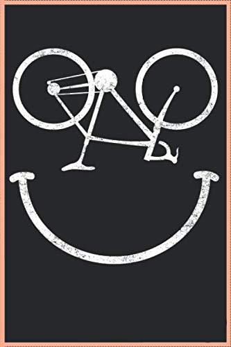 Lustiges Fahrrad Smiley Gesicht Radfahrer 120 Seiten Kariert Fahrradfahrer Radfahrer Notizbuch A5 (6x9 Zoll) Heft - Geschenk Für Radfahrer Rad Kalender: Lustiges Fahrradfahrer Radfahrer Notizbuch