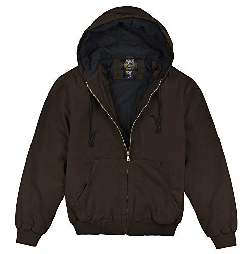 Victory Outfitters Men's Hooded Work Wear Canvas Jacket - Brown - 2XLT