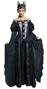 Snow White and The Huntsman Adult Queen Ravenna Skull Dress Costume Black Large