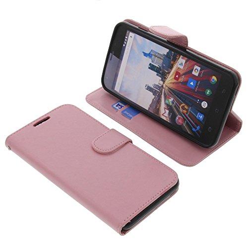 foto-kontor Tasche für Archos 55 Helium Plus Book Style pink Schutz Hülle Buch