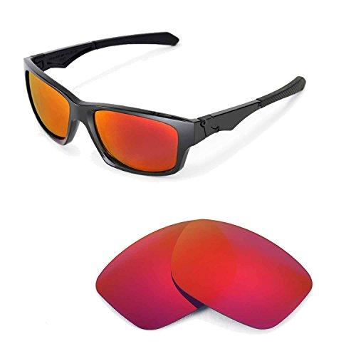 Walleva Ersatzgläser für Oakley Jupiter Squared Sonnenbrille - Mehrfache Optionen (Feuer Red Mirror Coated - Polarisiert)