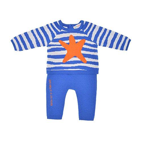 Agatha Ruiz De La Prada Baby 2tlg. Set Strickpullover & Hose, Jungen Outfit, CANASTILLA 9000W15, Blau, 6M (66cm)