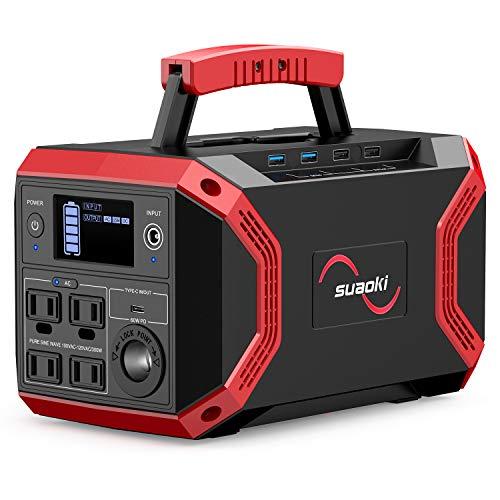 suaoki ポータブル電源 S370 大容量 322.56Wh/89600mAh 家庭用蓄電池 正弦波 PSE認証済み Power Delivery対応 4WAY充電 5WAY出力 AC(300W 瞬間最大600W)/ DC/シガーソケット/USB(急速