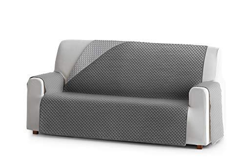 Eysa Oslo Funda, Poliéster, C/6 Gris-Gris, 3 plazas 160cm. Válido para sofá Desde 170 a 210cm