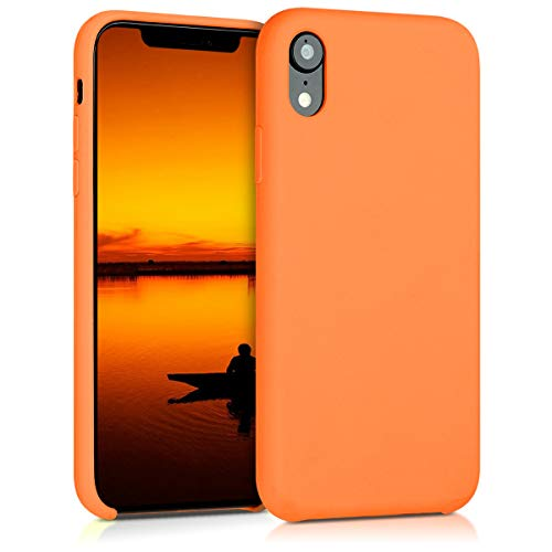 kwmobile Hülle kompatibel mit Apple iPhone XR - Handyhülle gummiert - Handy Hülle in Cosmic Orange