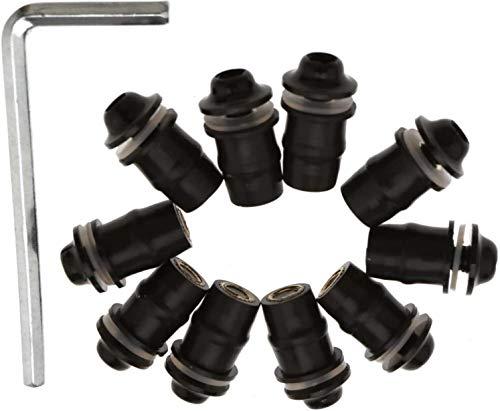 10 Stück Schrauben Gummimutter Motorrad Windschutzscheibenschrauben Mutter M5 Schraube Feste Schraube