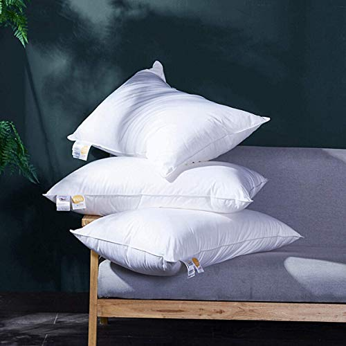 Coozii Queen Size Goose Down Feather Bed Pillow, 2-Pack,100% Egyptian Cotton-1200 Thread Count,Filled with 50% Down and 50% Feather,Premium &...