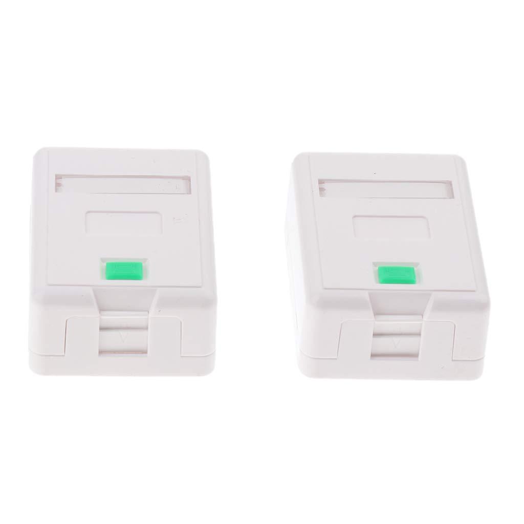 Shiwaki - Caja de montaje en superficie RJ45 Jack para tornillos y cinta adhesiva, 2 unidades: Amazon.es: Electrónica