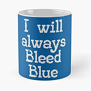 Dodgers Baseball - I Will Always Bleed Blue Classic Mug The Funny Coffee Mugs For Halloween, Holiday, Christmas Party Decoration 11 Ounce White Efixstore.