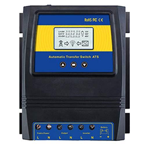 Nrpfell Automatische ATS Dual Power Transfer Switch Solar Laderegler für Solar Wind System 12 V 24 V 48 V AC 110 V 220 V ein/Aus Netz