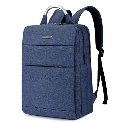 Laptop Rugzak Maak Nieuwe Mode Eenvoudige Pure Kleur 15.6-Inch Draagbare Notebook Reizen Computer Rugzak-Blauw