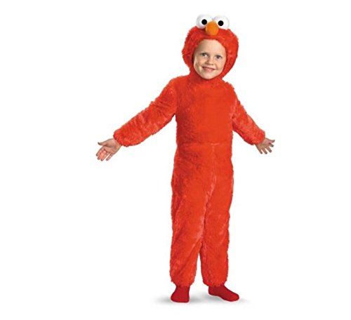 Infant Toddler Sesame Street Elmo Comfy Pelz Kost-m Gr--e Toddler3-4