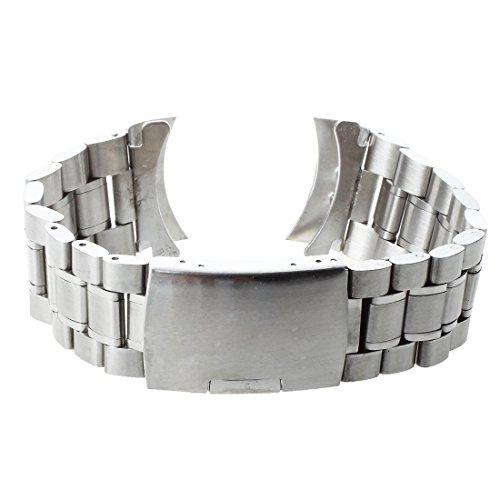 Hrsptudorc Pulsera Correa de Repuesto para Reloj Metal Acero Inoxidable 24mm Color de Plata Moda