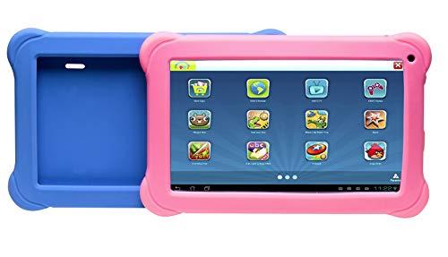 Denver kindertablet (Quadcore processor, 1 GB RAM, Android 8.1 GO Edition) zwart met 2 gekleurde beschermhoezen