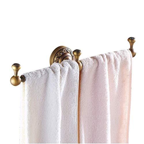PULLEY Toallero de baño Percha de puerta Soporte de toalla Estante baño antiguo estilo europeo colgante solo tiro (color: latón)