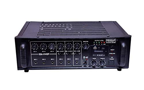 MEDHA D.J. PLUS Professional 250 Watt P.A. Amplifier With Digital Media Player