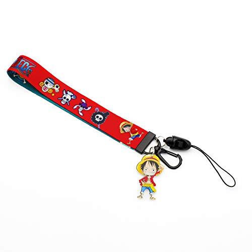 One Piece Luffy Lanyard Keychain ID Card Badge Holder (Luffy Style 1 Short)