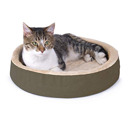 K&H Pet Products 3701 Thermo-Kitty Cuddle Up Heated Pet Bed...