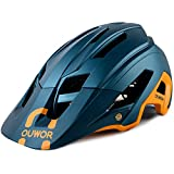 Mountain Bike MTB Helmet, CPSC Certified, Removable Visor, for Adult Men Women Youth (Blackish Green)