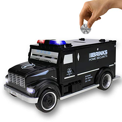 Kids Money Bank,Yoego Electronic Piggy Banks, Great Gift Toy for Kids Children, Cool Armored Car Bank Password Coin Bank, Perfect Toy Gifts for Boys Girls (Black)
