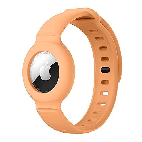 Funda Pulsera de Silicona para Apple AirTag, Pulsera Suave de Colores para...