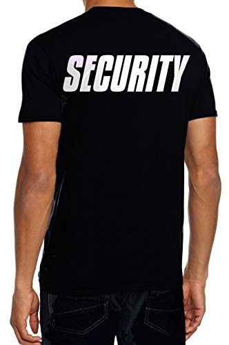 Security T-Shirt + Cap ! Druck vo+hi ! schwarz Gr.L