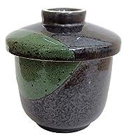 茶碗蒸しの器 天目グリーン蒸し碗 業務用 美濃焼 7a155-17-74f
