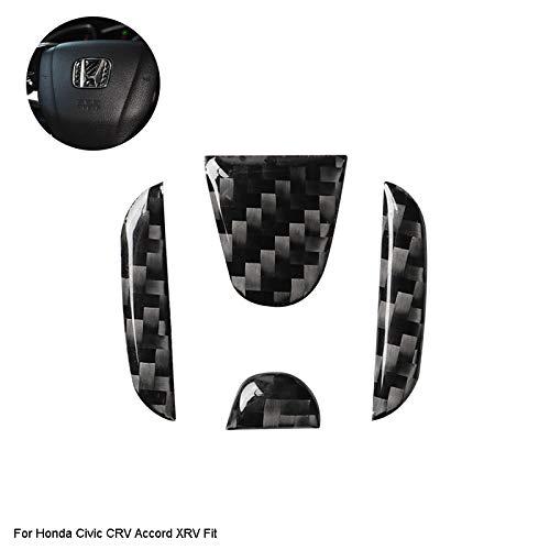 D28JD Volante del Coche Logo Pegatina Etiqueta de Fibra de Carbono para H-Onda Civic CRV Accord XRV Fit