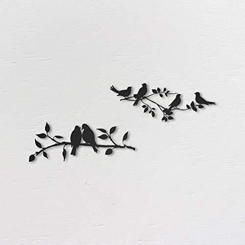 Northshire Decoración de pared de metal, Aves de metal, cuadros decoracion, decoración de pared negra, decoración de baño, decoracion baño, dcuadros decorativos