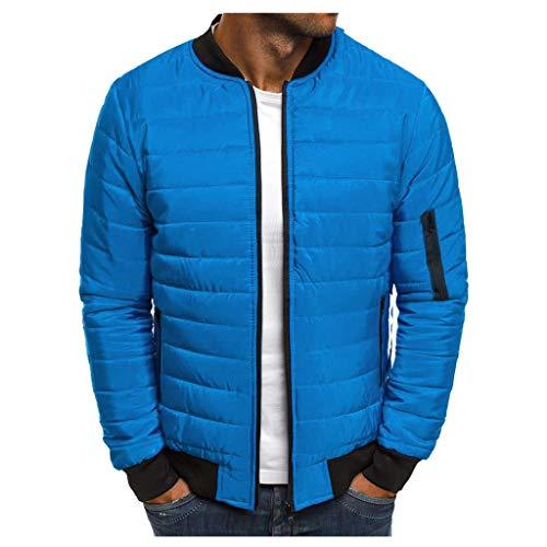 LILIHOT Herren Steppjacke einfarbig Übergangsjacke warme Kapuzejacke leichte Freizeitjacke Herbst Winter Quality Coat mit Reißverschluss