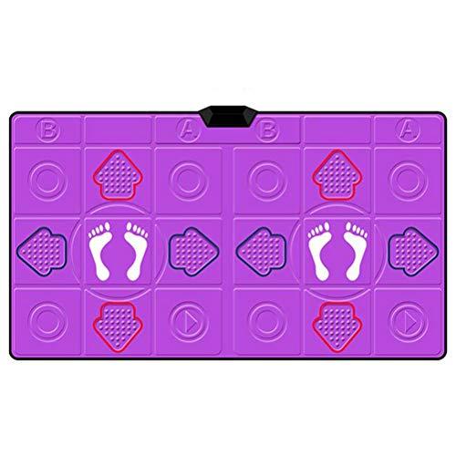 Somatosensorische HD TV Dansen Games Console, Wireless Dubbele Dans Playstation Met 64 Spellen En TF Kaart Voor Sport Fitness [Energy Class A],Purple