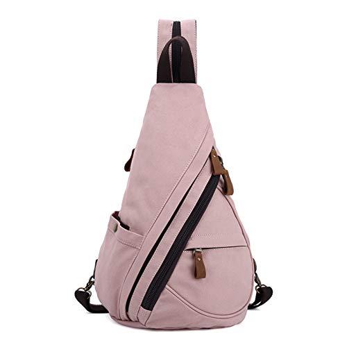 FANDARE Unisex Brusttasche Sling Bag 3 in 1 Herren Rucksack Damen Schulranzen Junge Mädchen Schulrucksack Schultertasche Umhängetasche Sporttasche für Schule Reise Pendeln Joggen Daypacks Hell-Pink