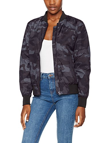 Urban Classics Damen Ladies Light Jacket Camo Bomber Jacke, darkcamo, M