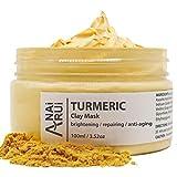 ANAIRUI Turmeric Face Mask, Bentonite Clay Facial Mask with Vitamin C E for Radiant Skin, Acnes...