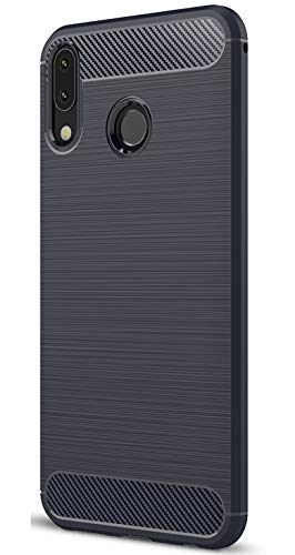 XINFENGDI Asus Zenfone 5Z ZS620KL Hülle, Tasche mit Stoßdämpfung Robuste TPU Stylisch Karbon Design Handyhülle Hülle Hülle für Asus Zenfone 5Z ZS620KL - Blau