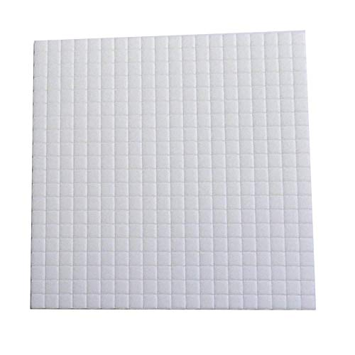 Mirrors-Interiors Sheet Of 5mmx5mmx1mm Thick White Sticky Foam Pads (400 Pads) Double Sided Adhesive * JANUARY Sale *