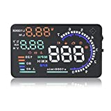 """Eoncore New Universal 5.5"""" Car A8 HUD Head Up Display with OBD2 Interface Plug & Play KM/h MPH…"""