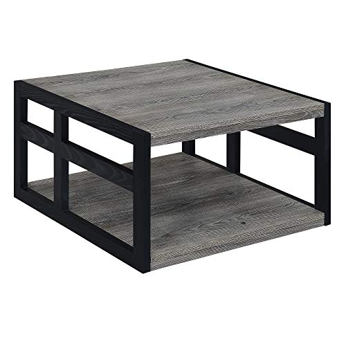 Convenience Concepts Monterey Square Coffee Table, Weathered Gray