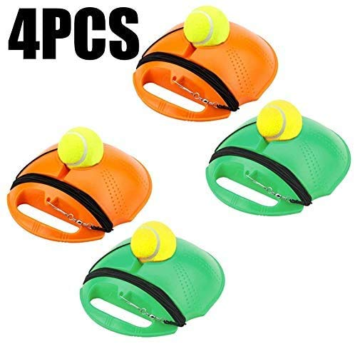Great Price! NACHEN 4pcs Tennis Trainer Rebound Baseboard,Tennis Ball Self-Study Practice Tool,Tenni...
