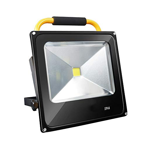 PULLEY Luz de trabajo LED, IP65 impermeable de inundación, luces de trabajo de pie ajustables para taller, sitio de construcción, pesca