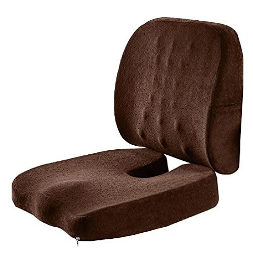 Cojín de asiento Cojín ortopédico de espuma viscoelástica y soporte lumbar para silla de oficina y cojín para silla de coche