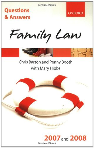 Q & A Family Law 2007 and 2008 (Questions & Answers)
