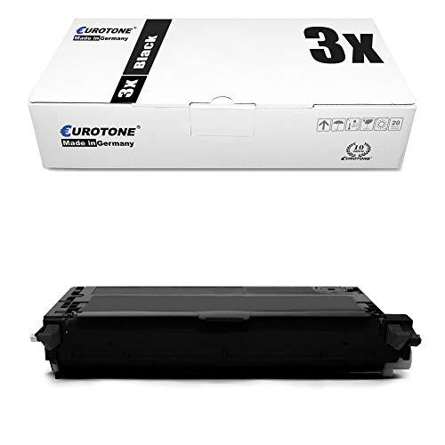 3x Eurotone Toner for Dell 3130 wie 593-10289 59310289 Black H516C Black