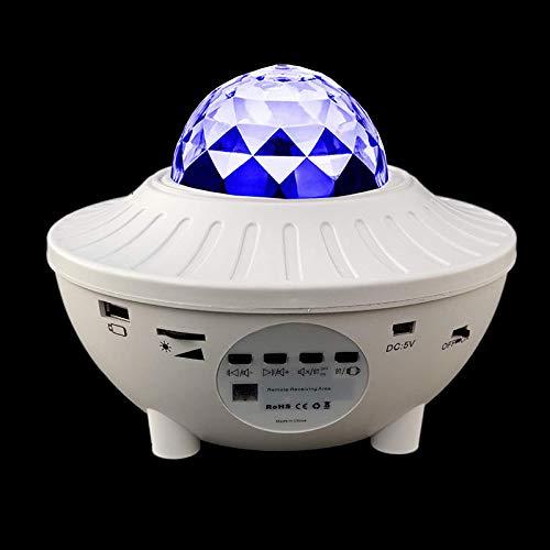 YChoice365 Lámpara De Proyección Led Proyector De Estrella Luz Nocturna, Luz De Proyección Del Cielo Con Control Remoto 4 Colores 21 Efectos De Luz Cambio De Música Altavoz Bluetooth Temporizador